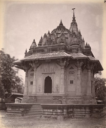 General view of cenotaph of the Scindia family, Lashkar, Gwalior.